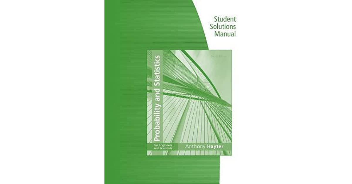 probability and statistics for engineers 7ed solutions manual